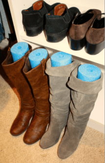 Cool Hacks - Pool Noodles in Boots