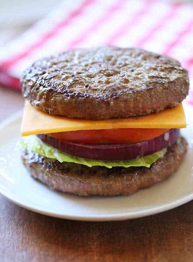 Bunless burger recipe