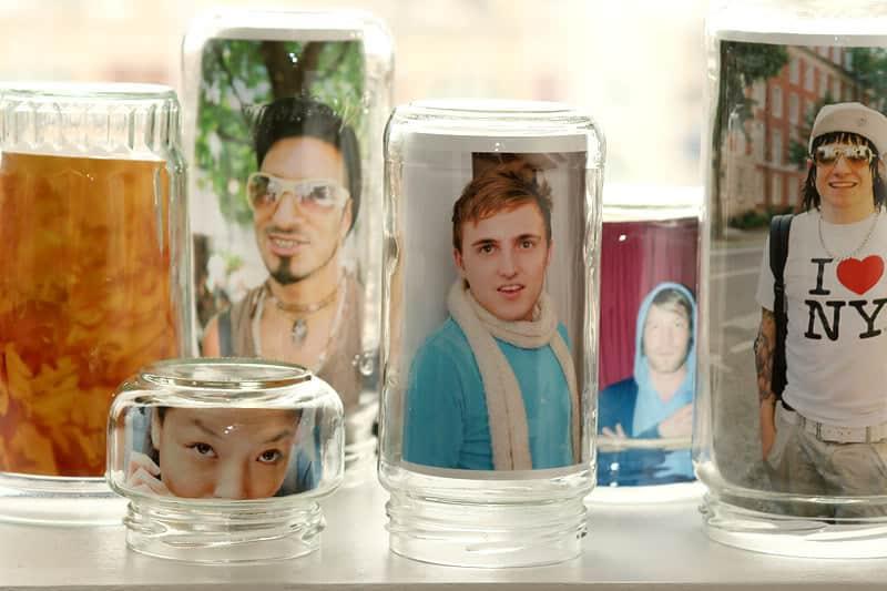 Candle jar photo frame