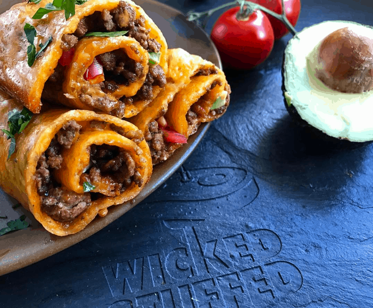 Cheddar wrapped taco roll recipe