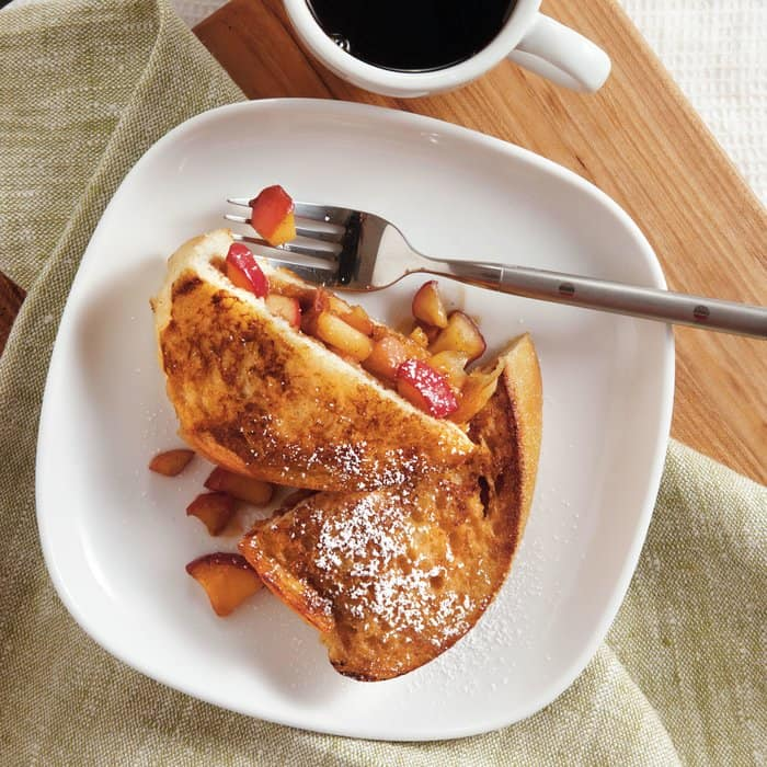 Cinnamon apple stuffed french toast