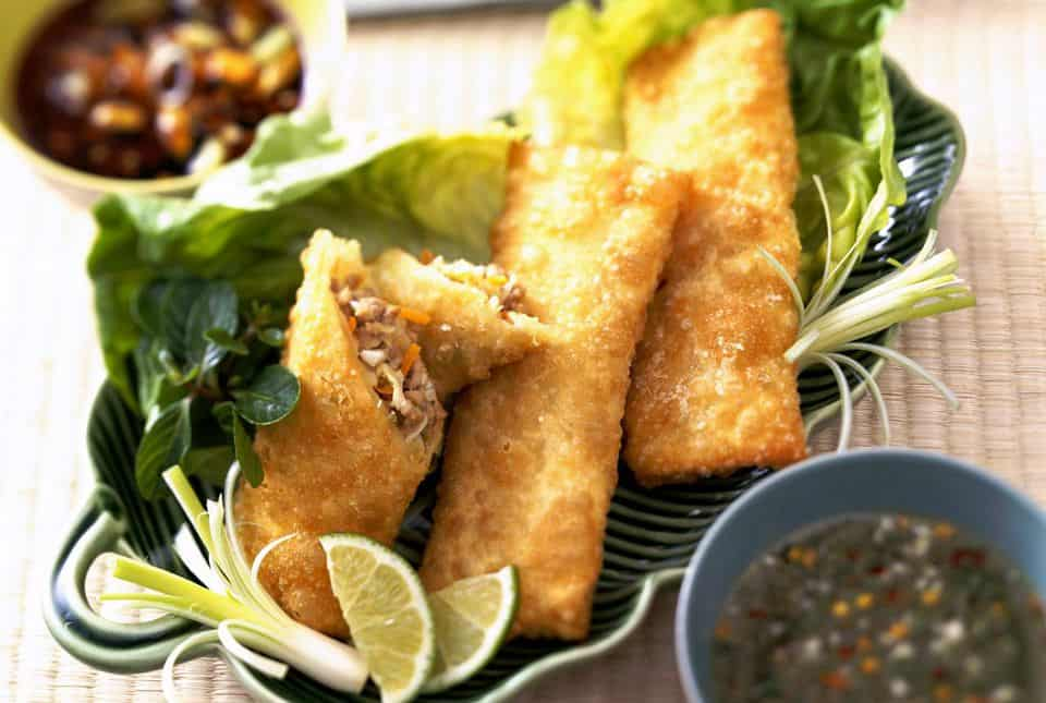 Crunchy veggie thai egg rolls
