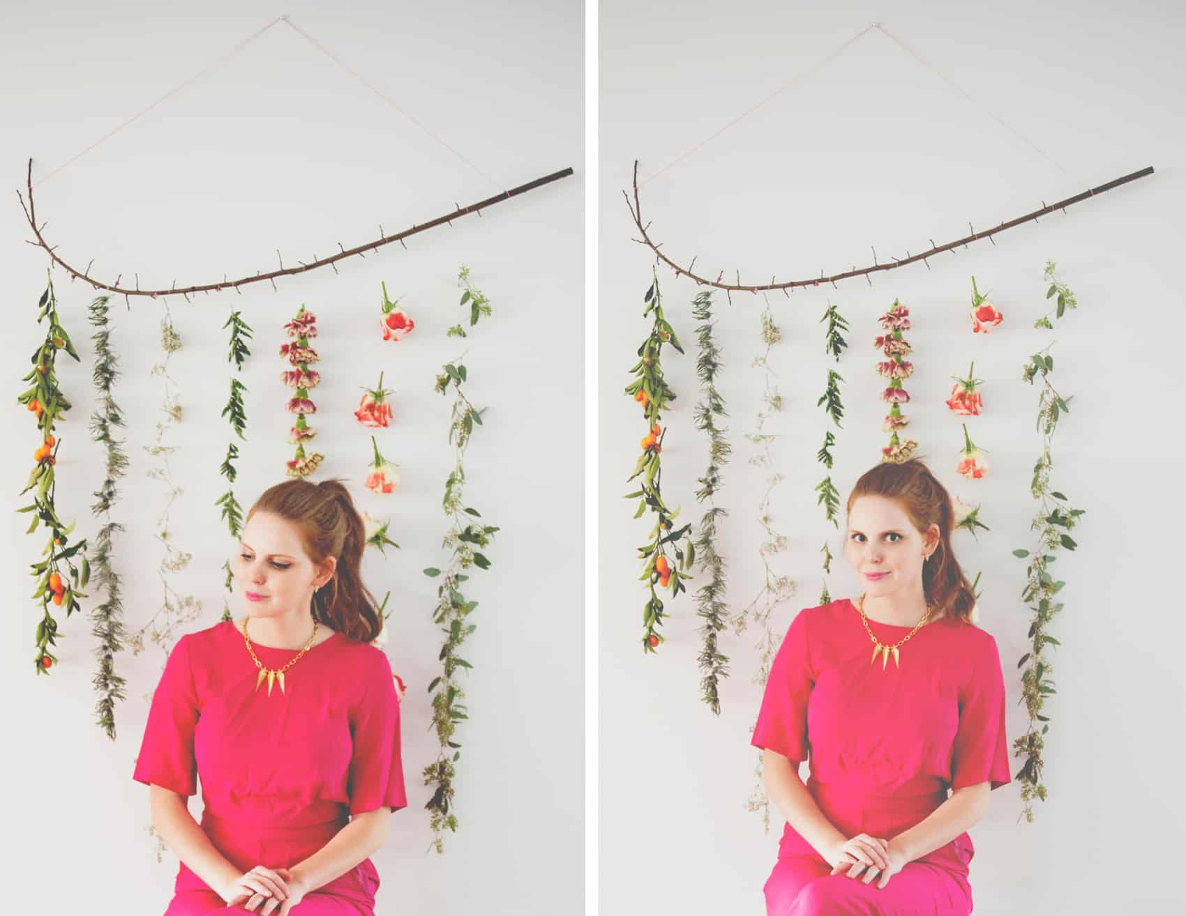 Diy flower garland wall