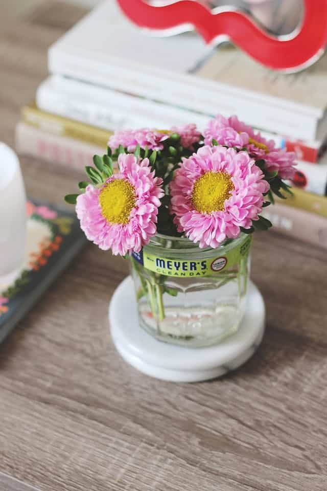 Flower vase candle jar diy