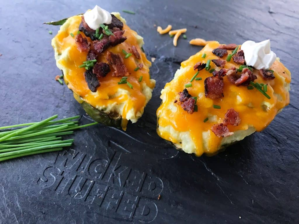 Loaded twice baked faux potato