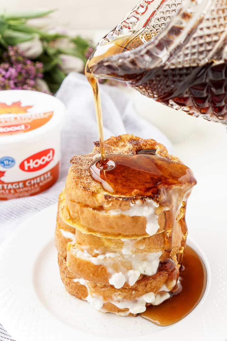 Maple vanilla stuffed french toast