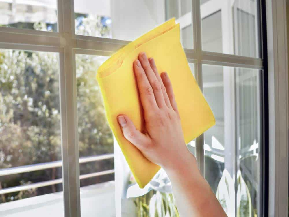 Use borax to clean windows and mirrors