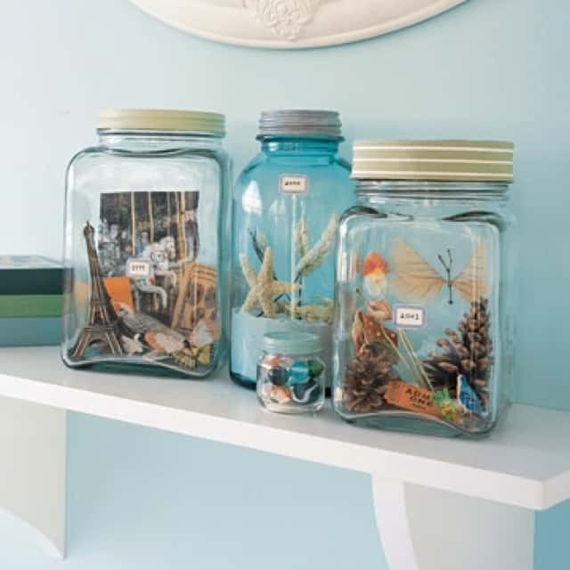 Vacation memories jars diy