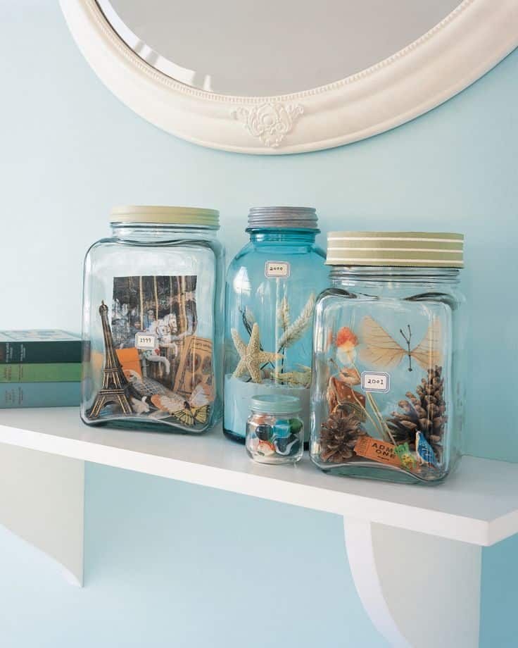Vacation memories jars