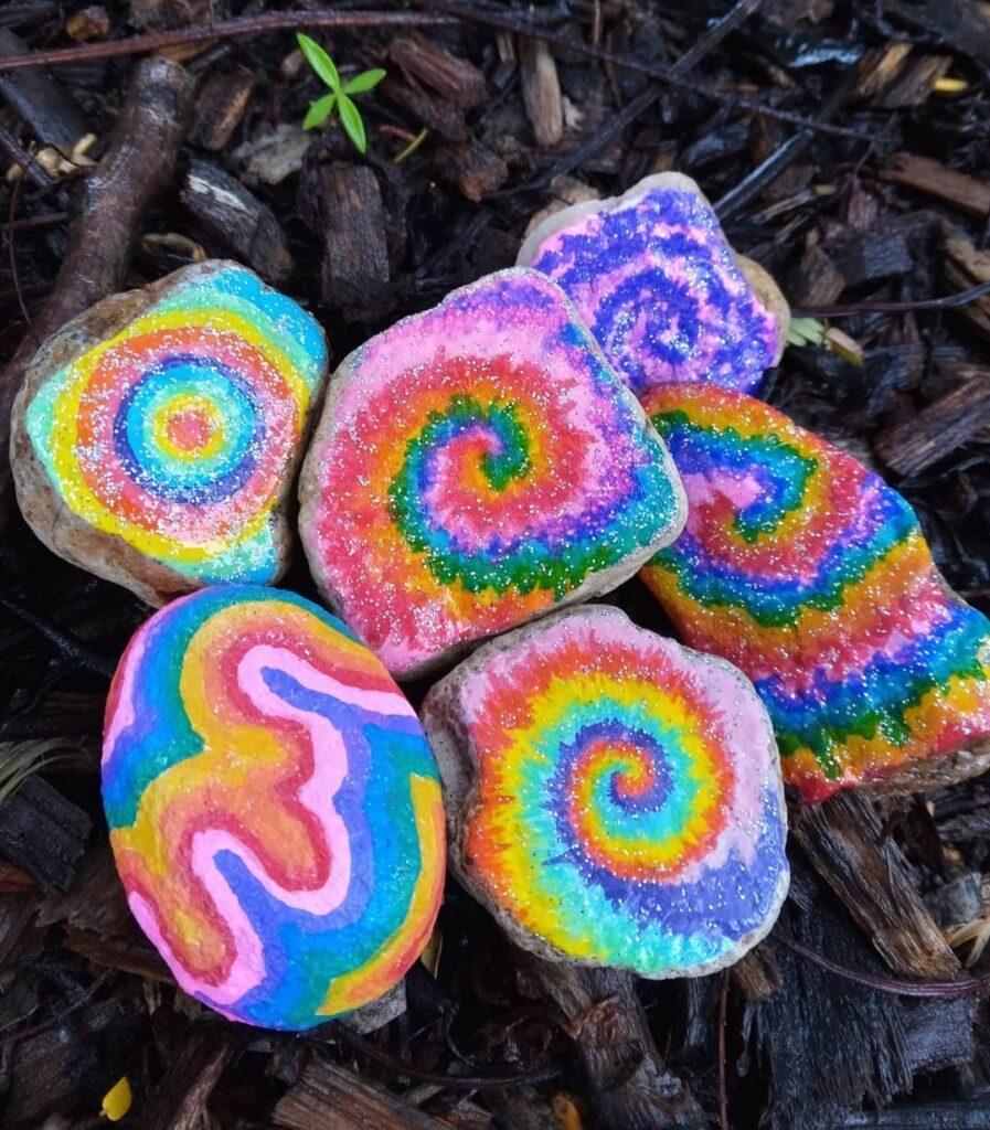 Swirly rainbow