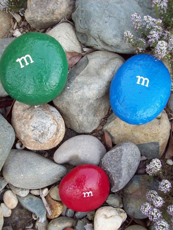 M&m painted rocks