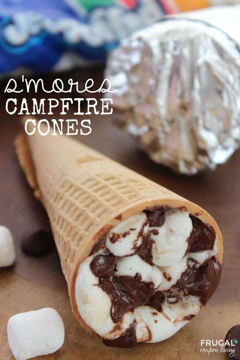 S mores campfire cones