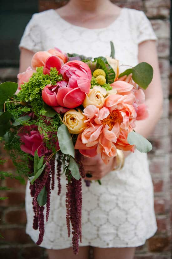 A practical wedding oversized colorful bouquet diy 8088