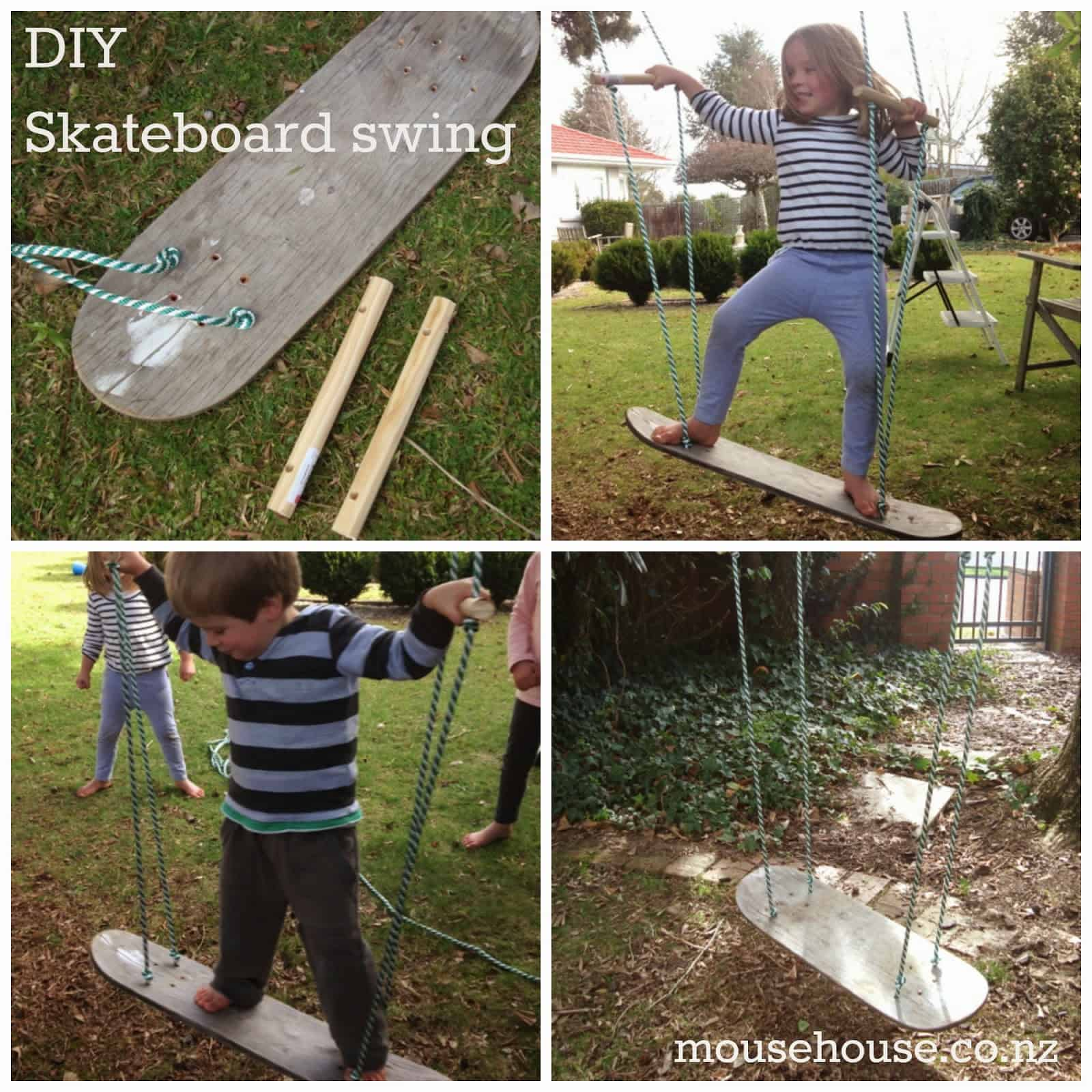Awesome diy skateboard swing
