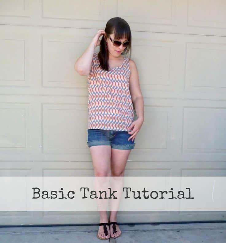 Basic tank top sewing pattern