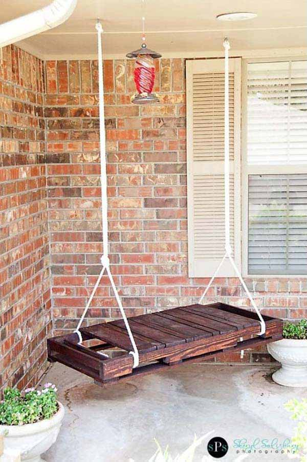 Bench style porch swing