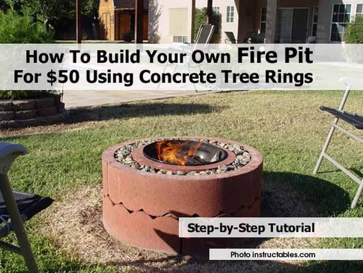 Concrete tree rings pit for $50