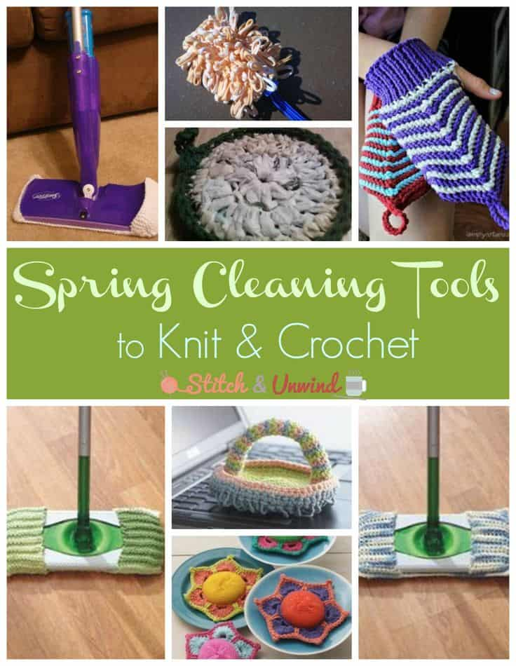 Crochet spring cleaning tools