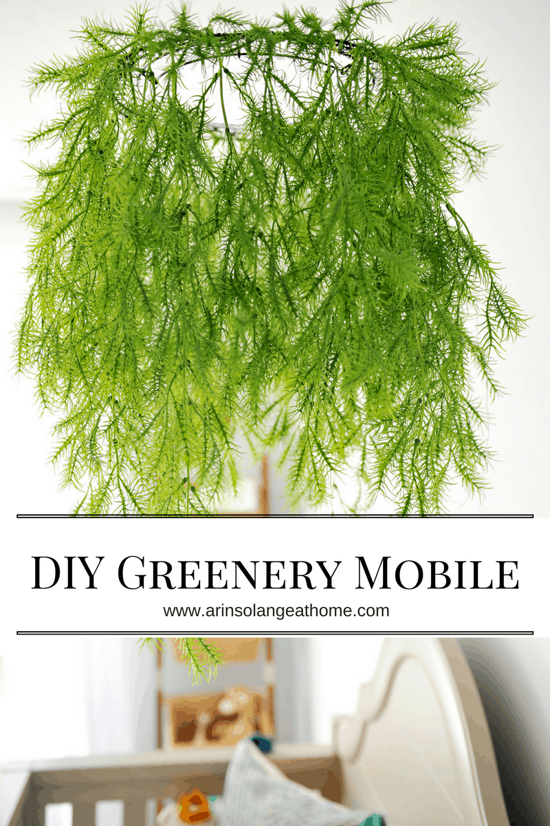 Diy greenery mobile