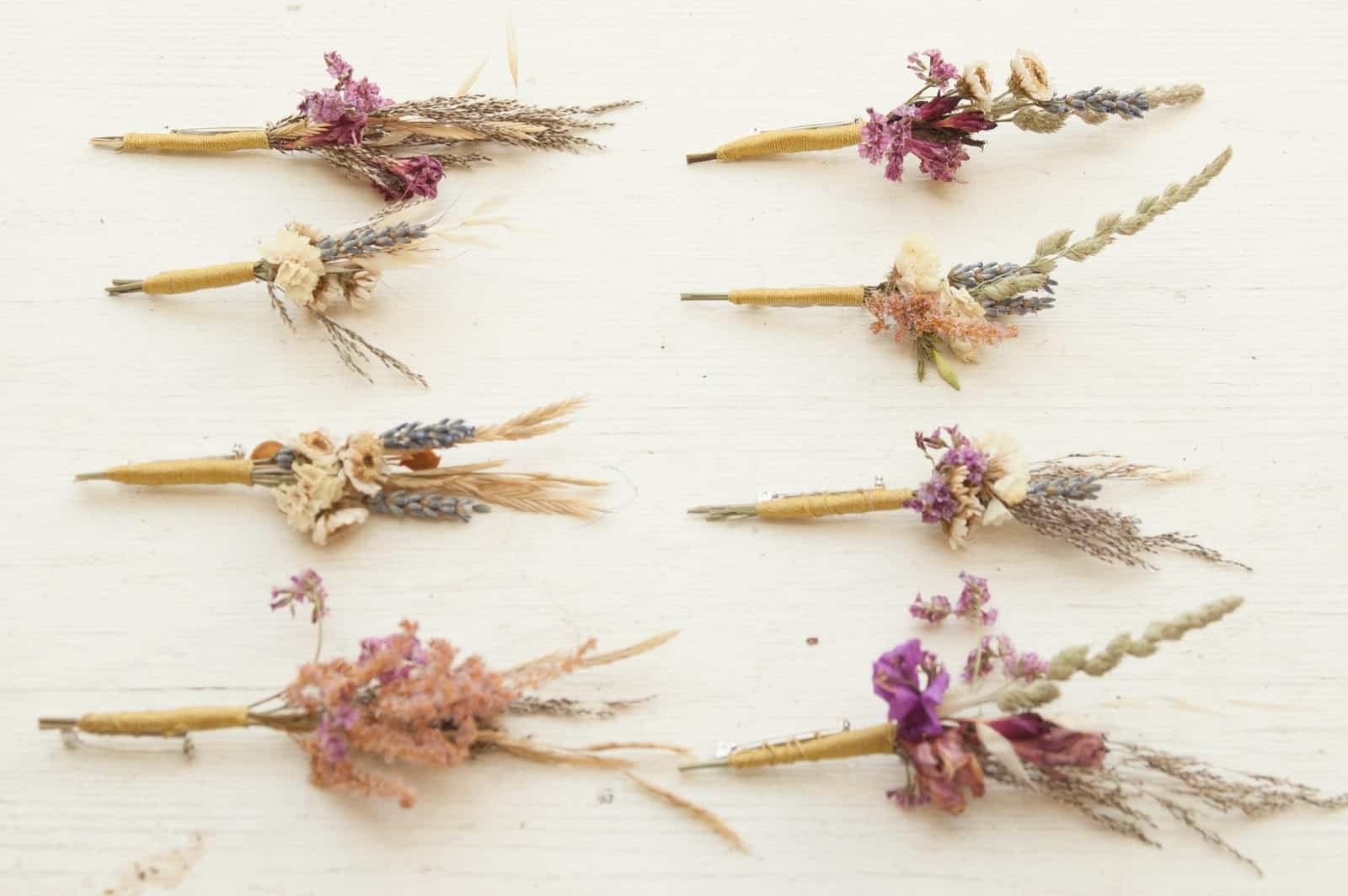 Diy dried flower brooch