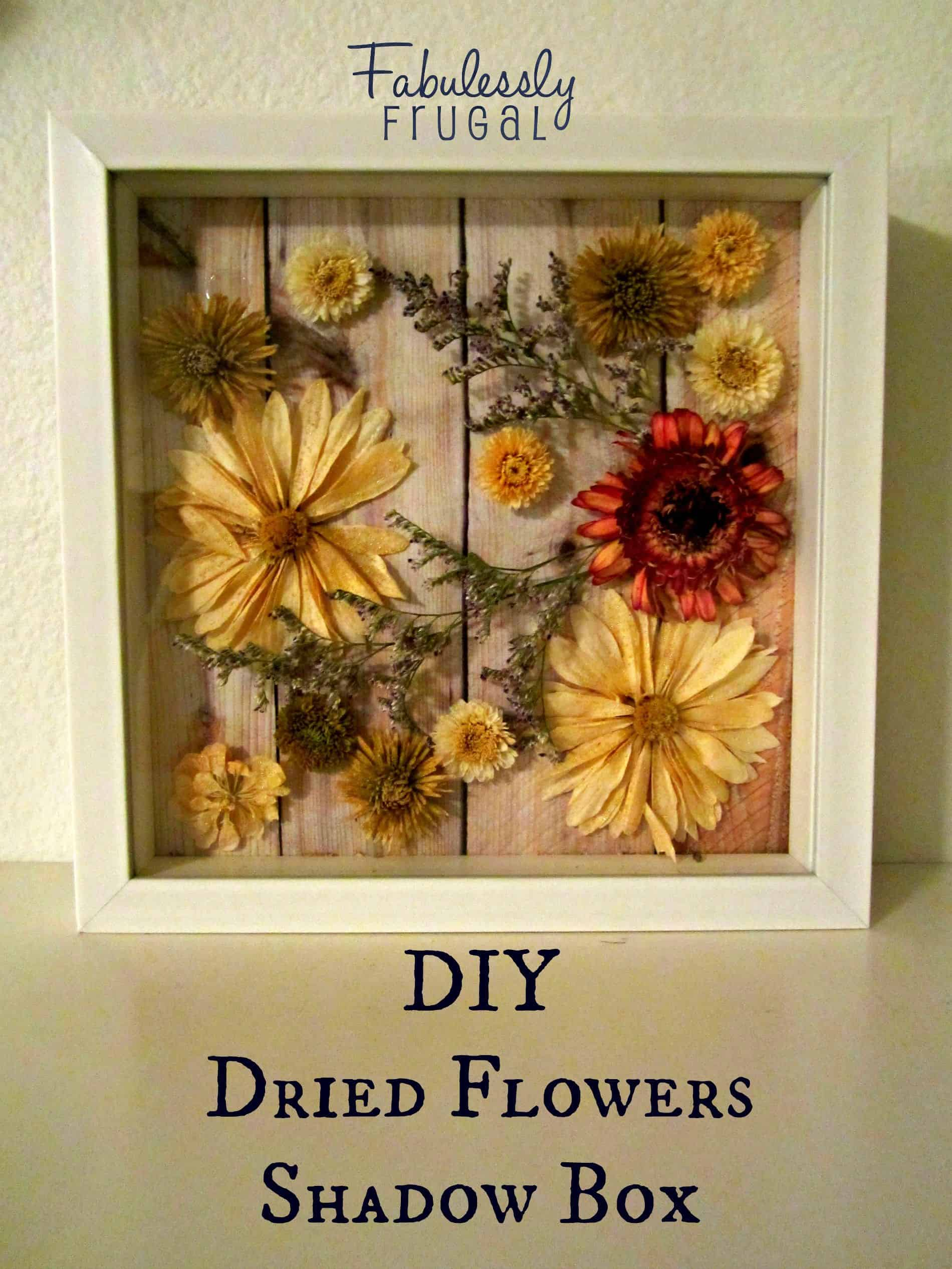 Diy dried flower shadow box