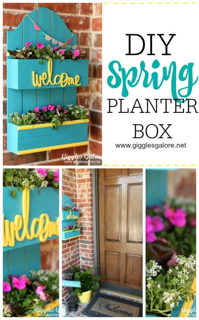 Diy spring planter and welcome box