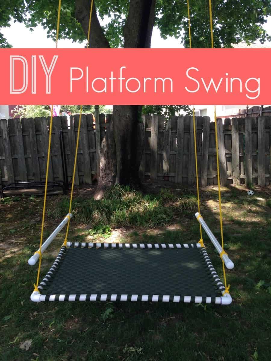 Diy woven platform swing