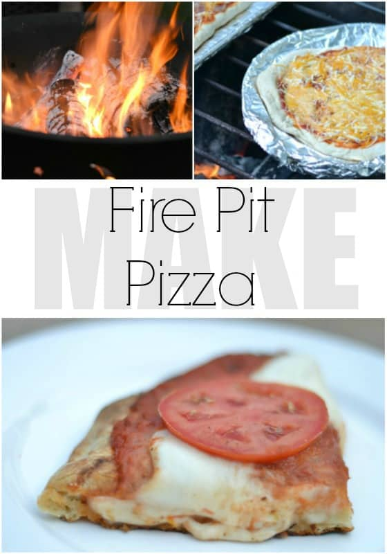 Delicious fire pit pizza
