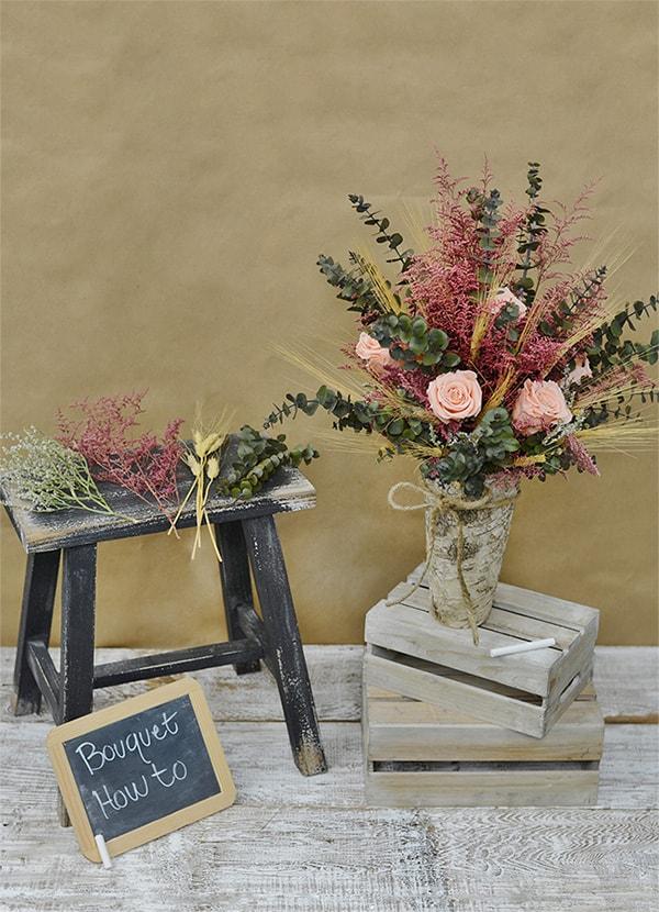 Dried flower bouquet arrangements