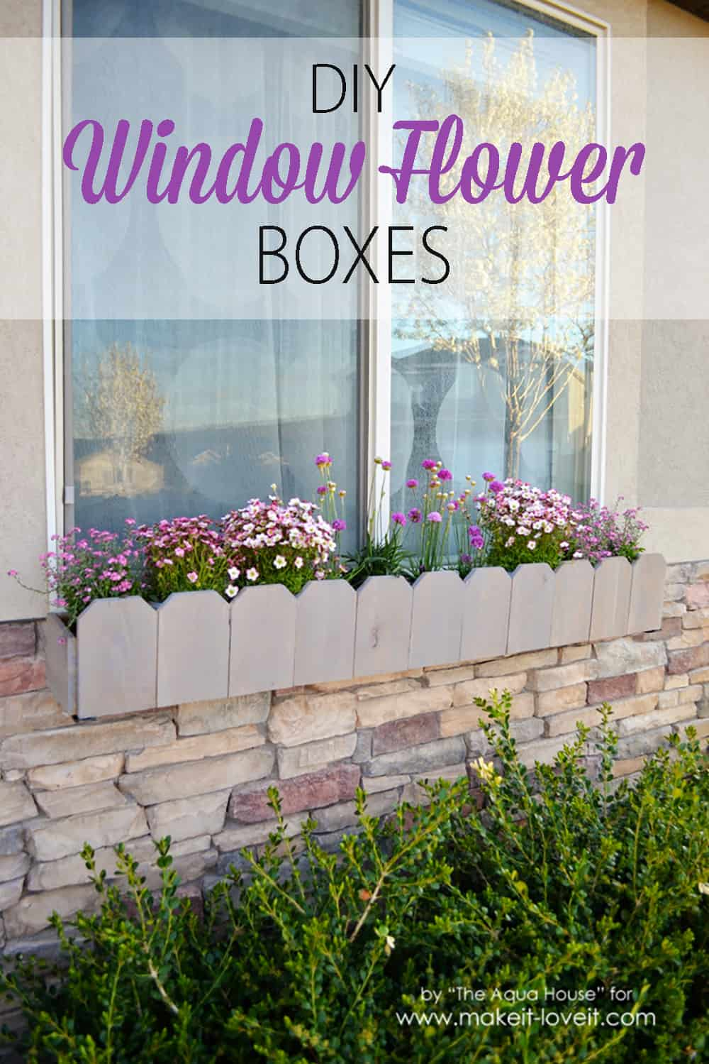 Fence top style flower boxes