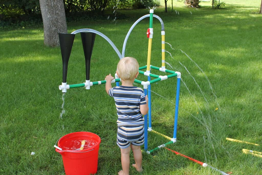 Fun kids' tinker sprinkler