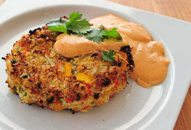 Grilled pumpkin crab cakes