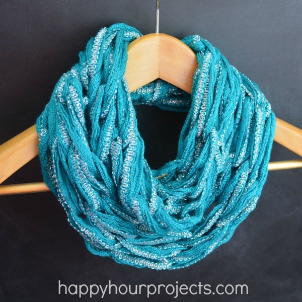 Light arm knit infinity scarf