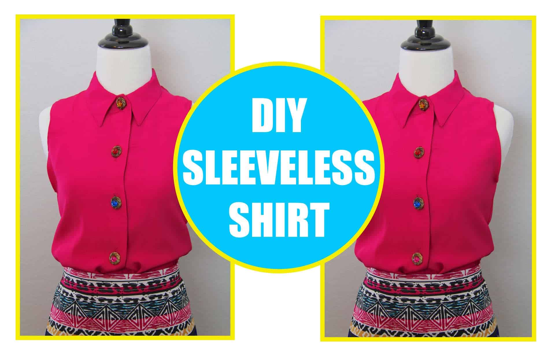 Long blouse to a sleeveless dress shirt