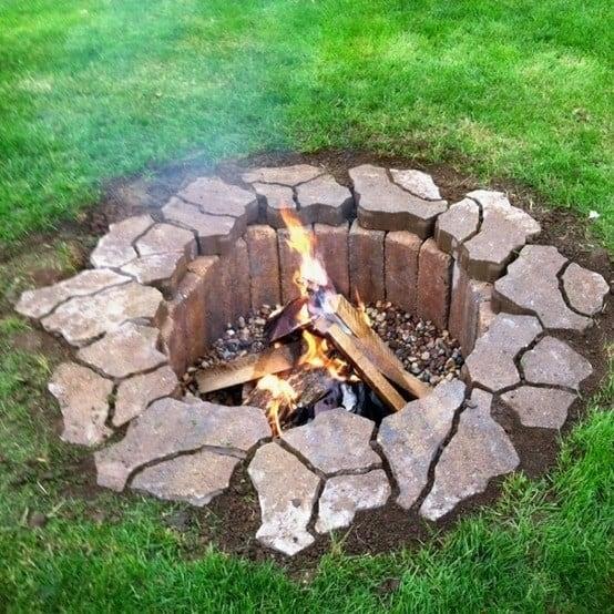 Make an organic perimeter fire pit
