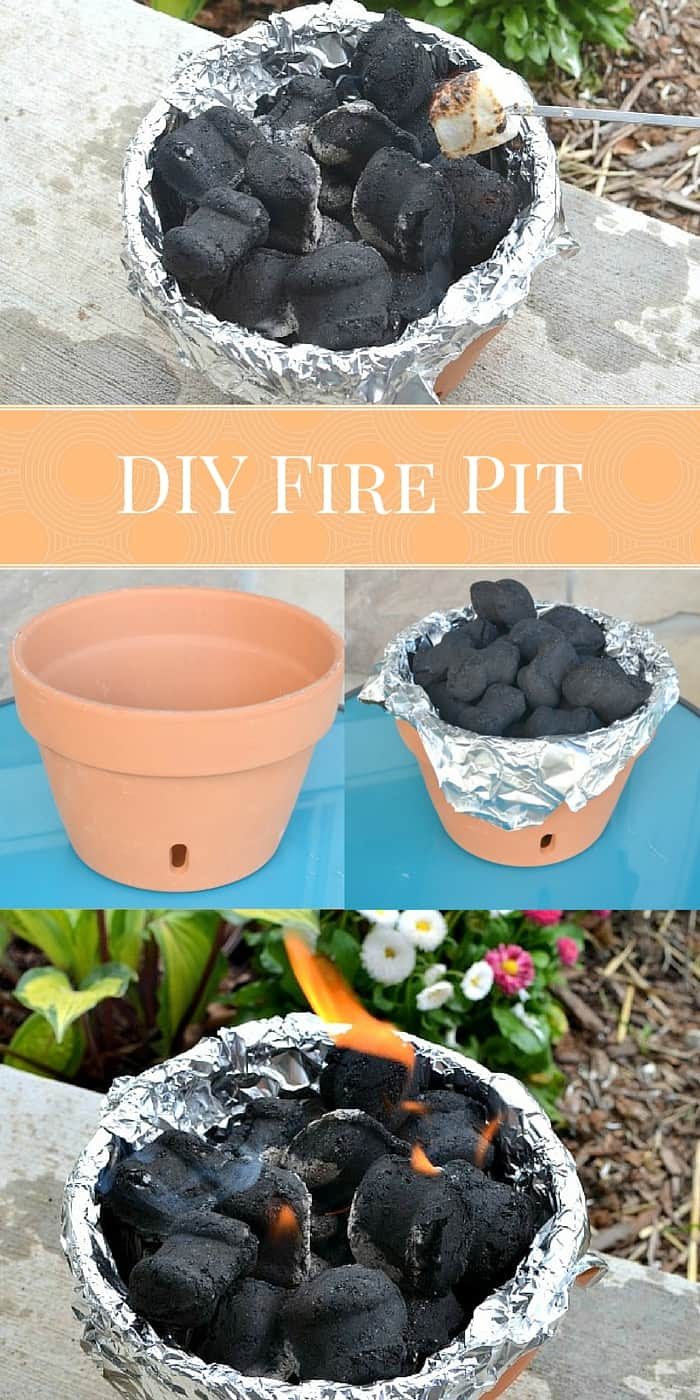 Miniature diy terra cotta pot fire pit