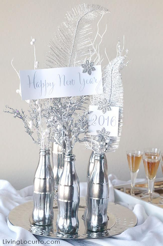 New years eve diy centerpiece craft