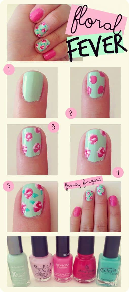 Pink and teal floral fever