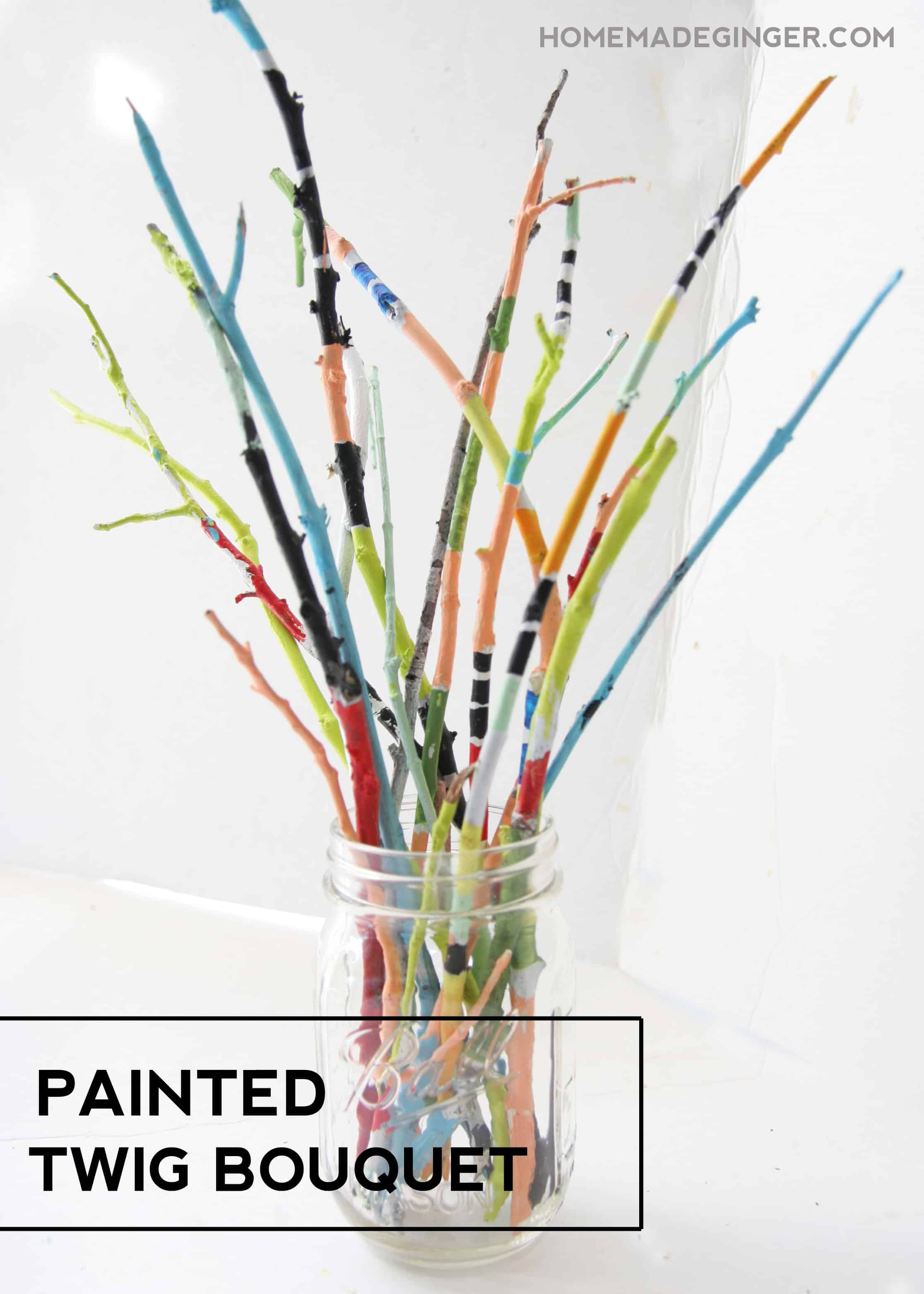Pretty painted twig bouquet
