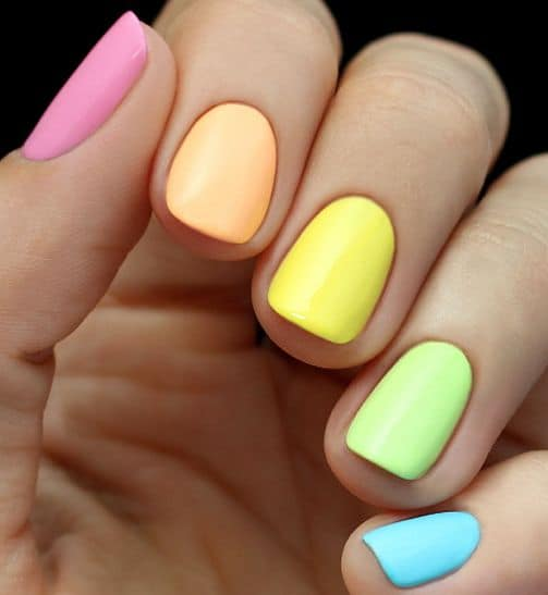 Simple spring neons rainbow