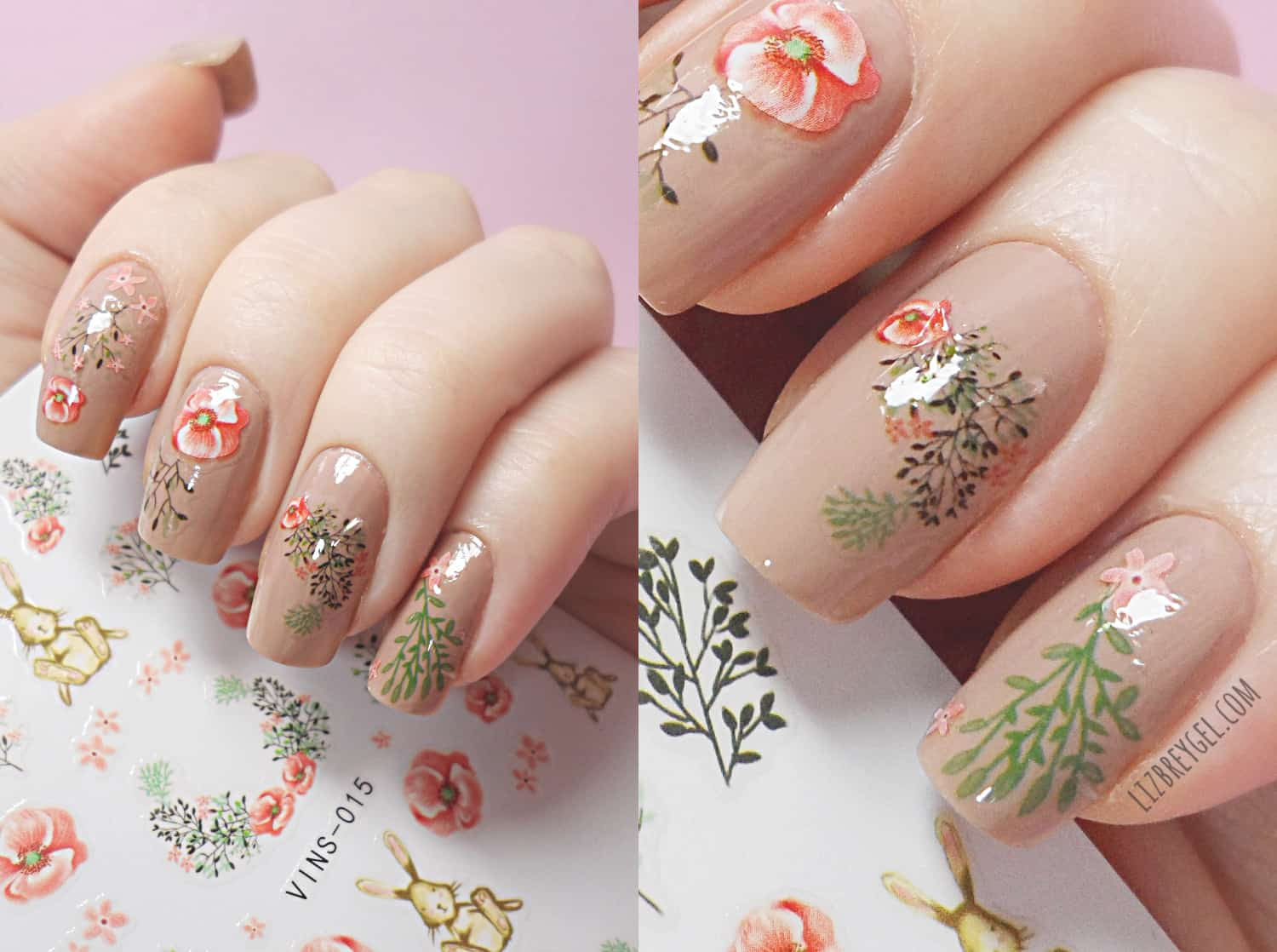 Stunning detailed floral manicure