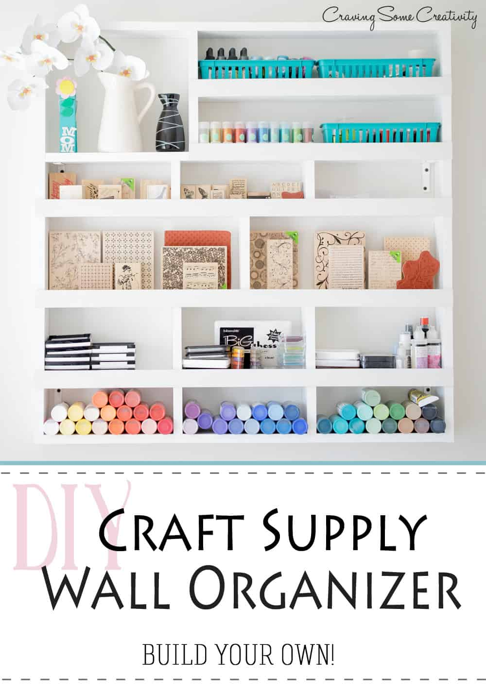 Tall all organizer for paints and stamps