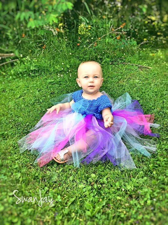 Toddler tutu with crocheted bodice
