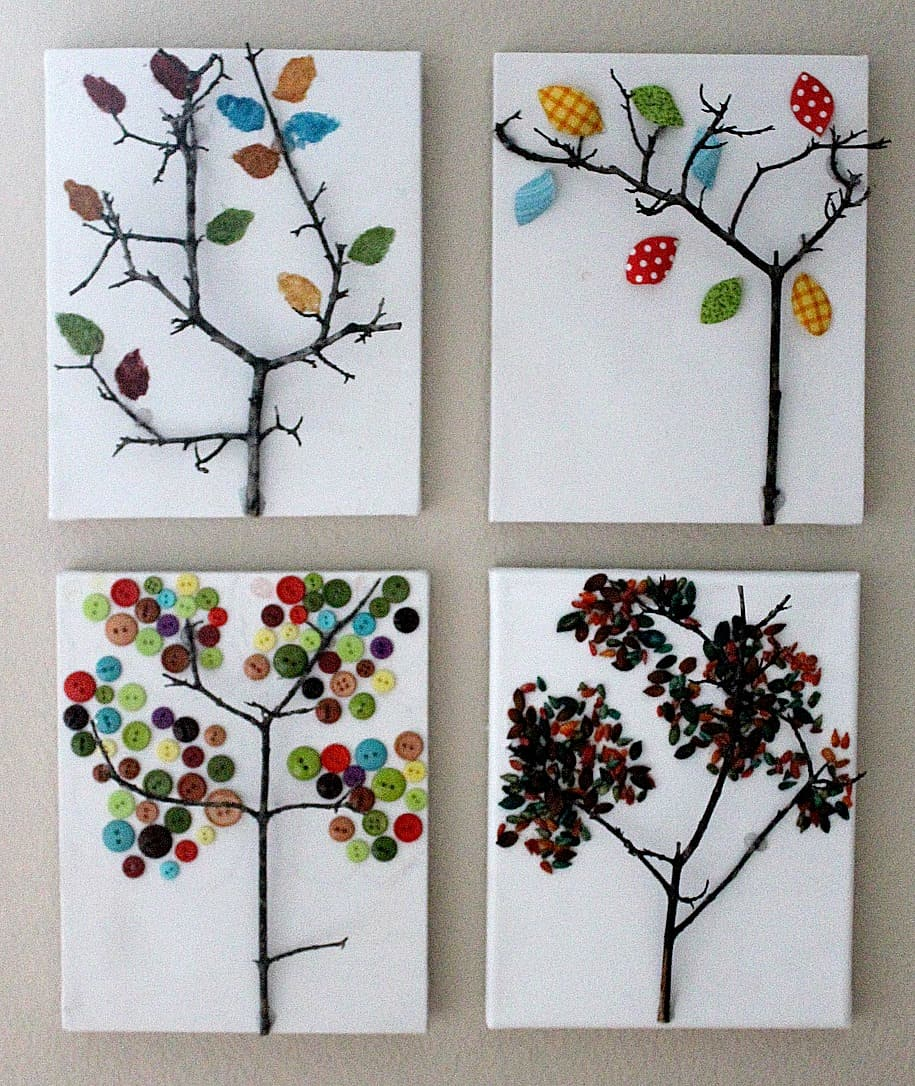 Twig and canvas trees