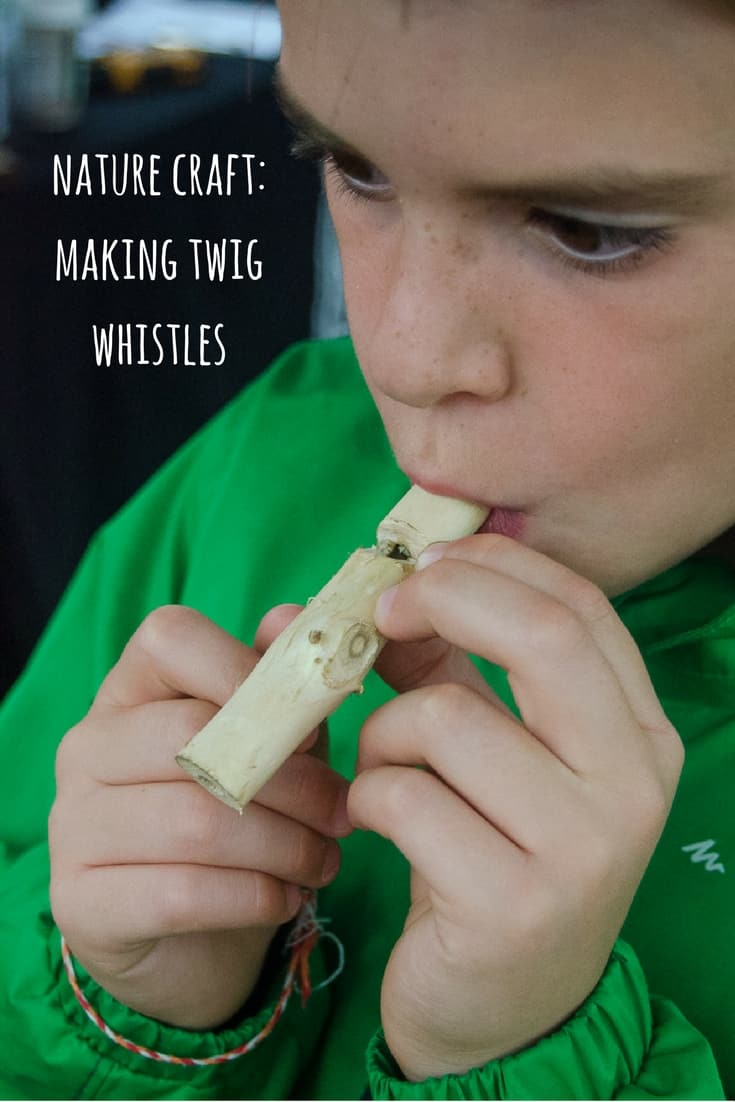 Wooden whistle carved from a stick