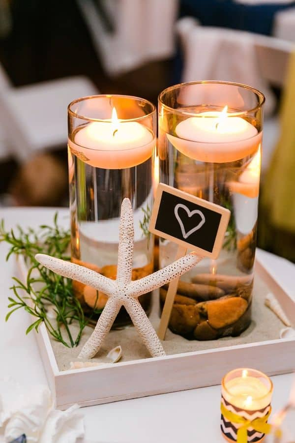 Beach inspired wedding centerpiece diy