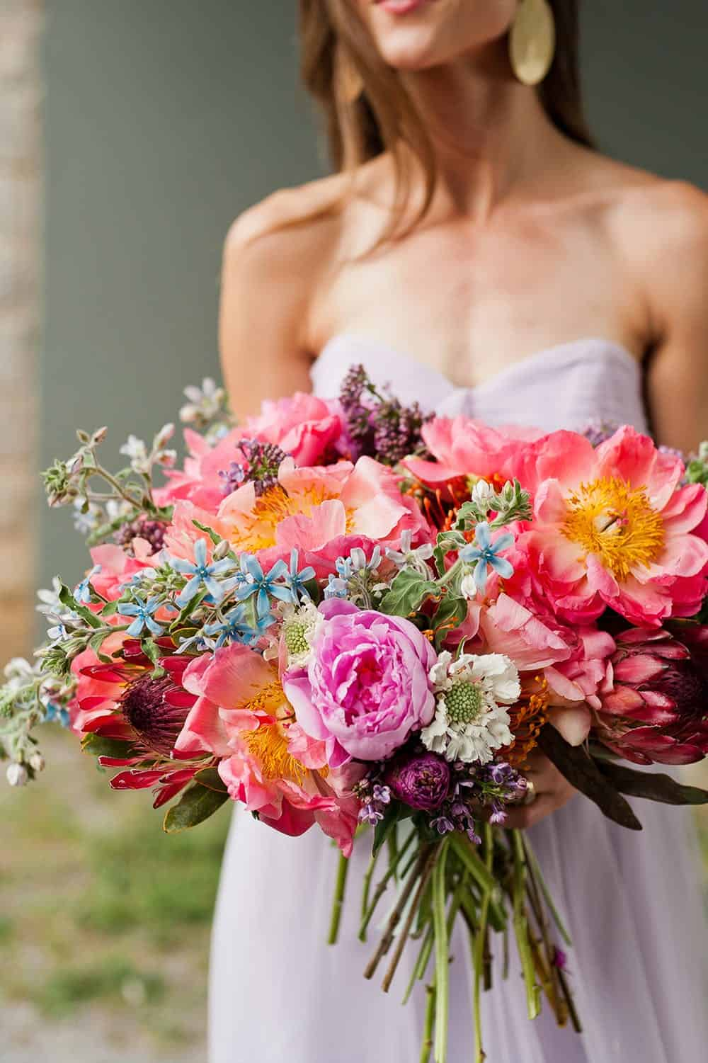 Colorful diy wedding bouquet davids bridal