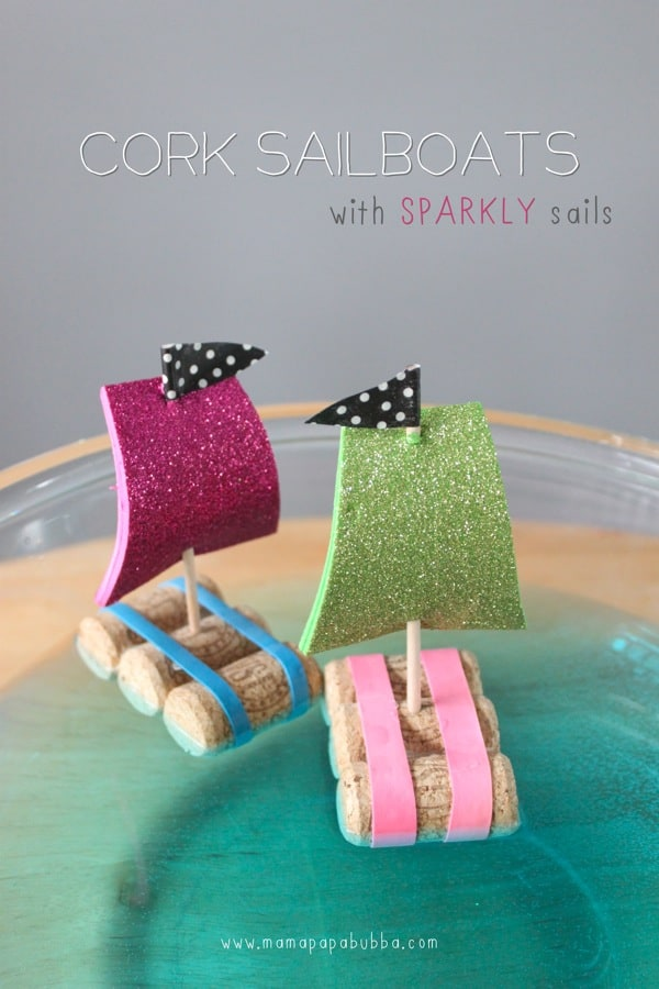 Cork sailboats with sparkly sails mama papa bubba 2