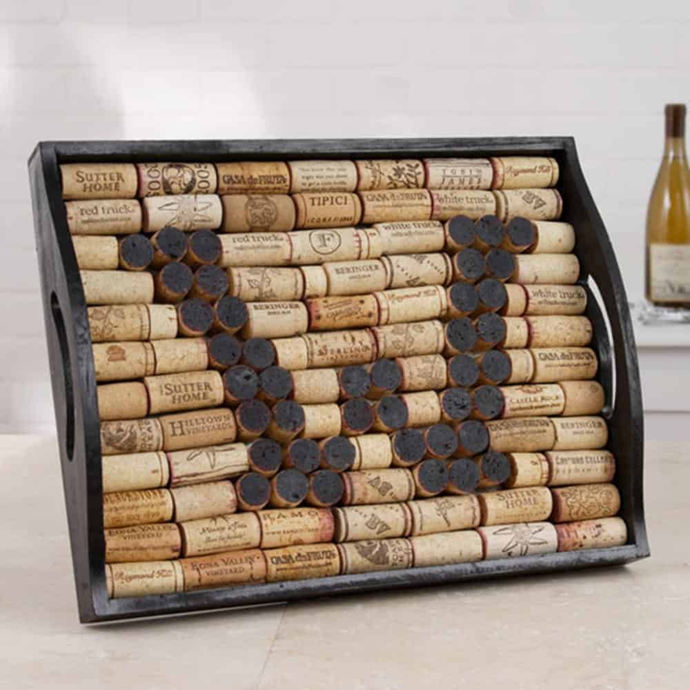 Cork serving tray diy