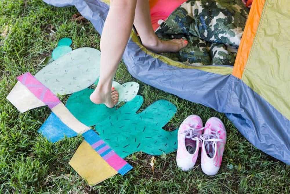 Diy camping mat